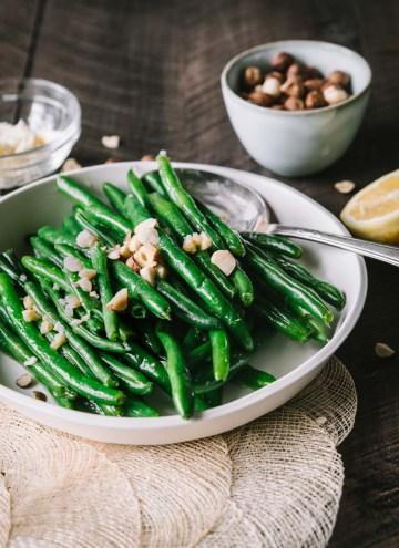 French Green Beans with Hazelnut Butter
