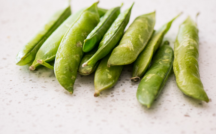 English peas in the shell