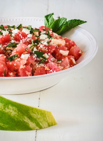 Watermelon, Feta & Mint Salad