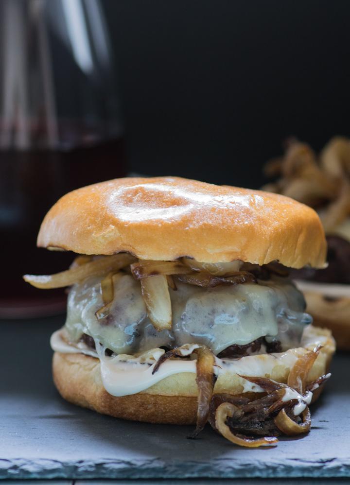 Caramelized Onion & Gruyere Burger