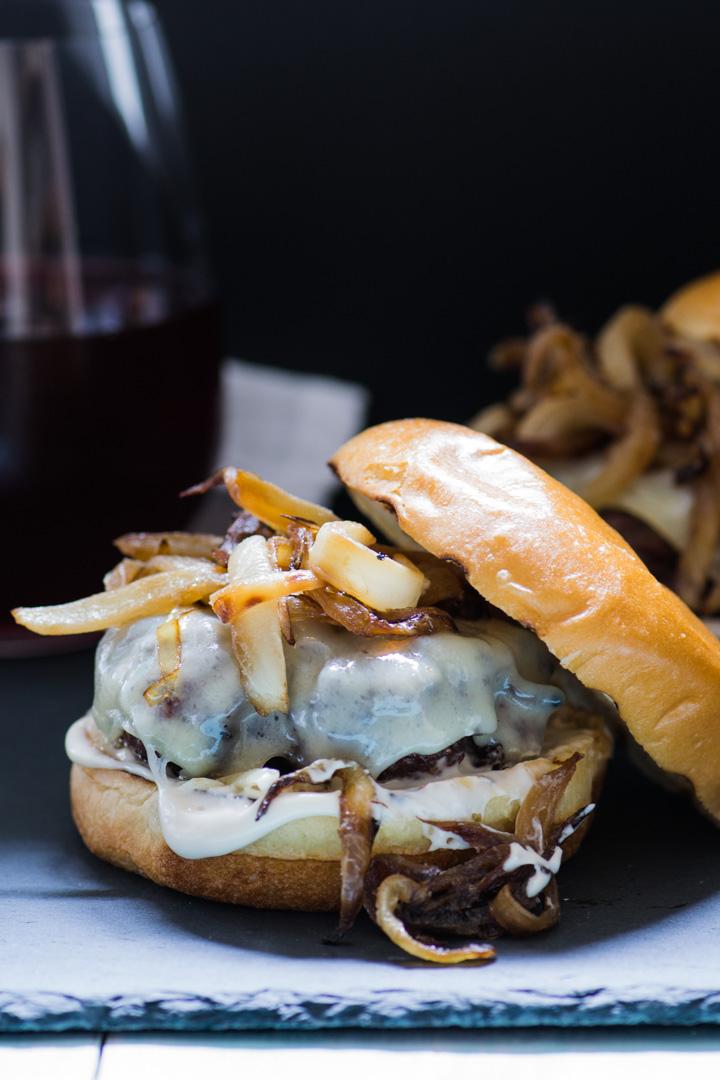 Caramelized Onion & Gruyère Burger