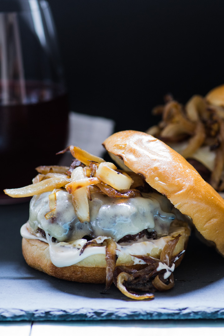 Caramelized Onion & Gruyère Burger