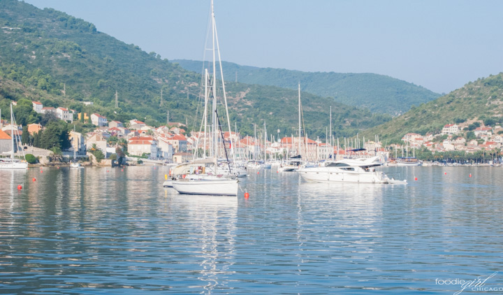 Sailing in Vis, Croatia
