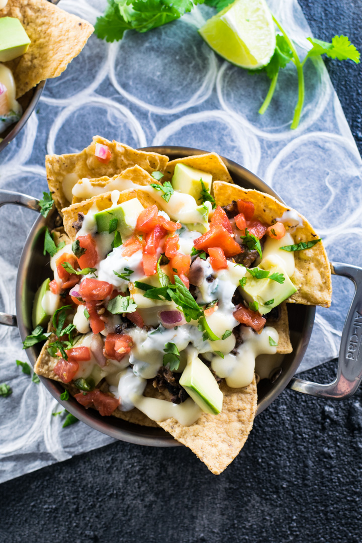 Game Day Cheesy Black Bean Nachos