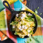 These chilaquiles verde and easy enough to make for a weekday breakfast but fun enough for a weekend brunch!