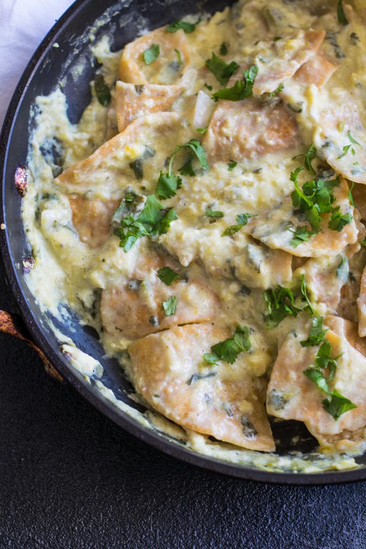 Chilaquiles Verde in Pan