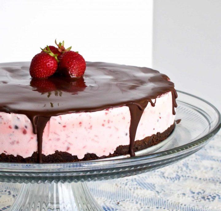 Chocolate Strawberry Ice Cream Cake