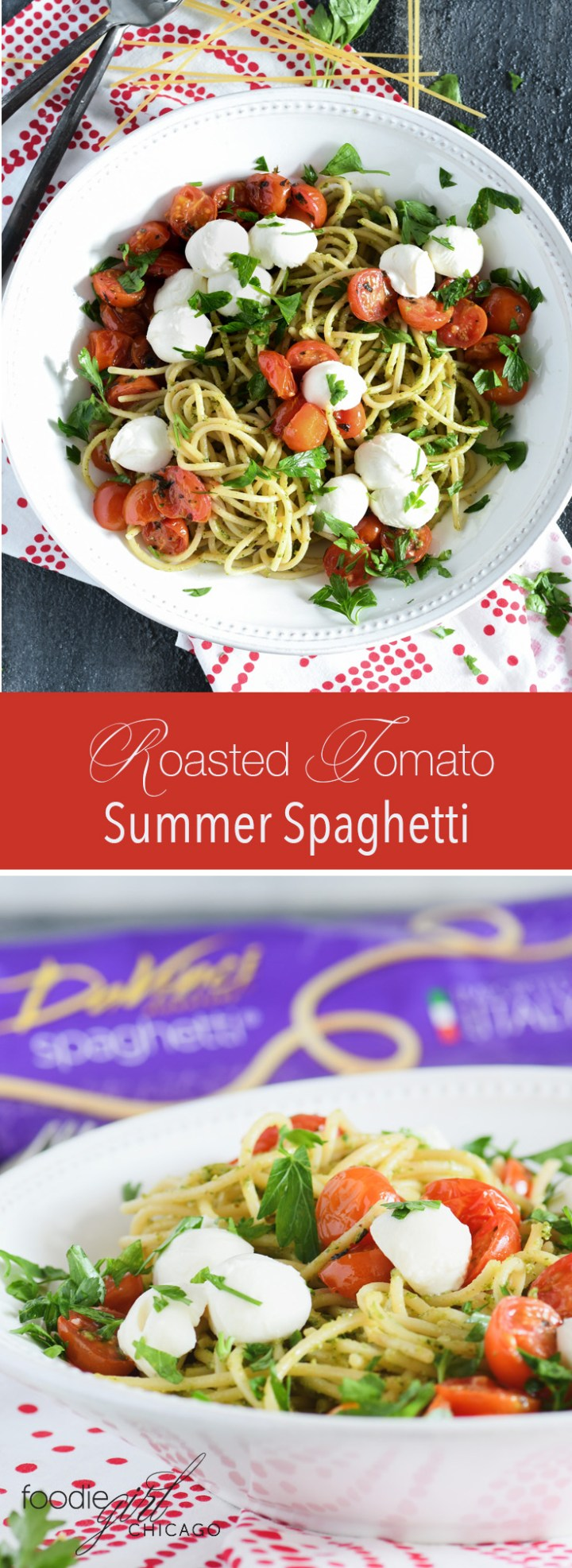 What's better than the garden fresh flavor you get from end of season tomatoes?  That fresh flavor paired with DaVinci spaghetti to give you the perfect light end of summer meal! #ad