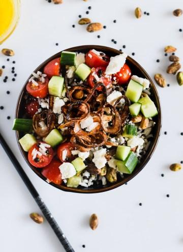 Beluga Lentil and Basmati Rice Salad