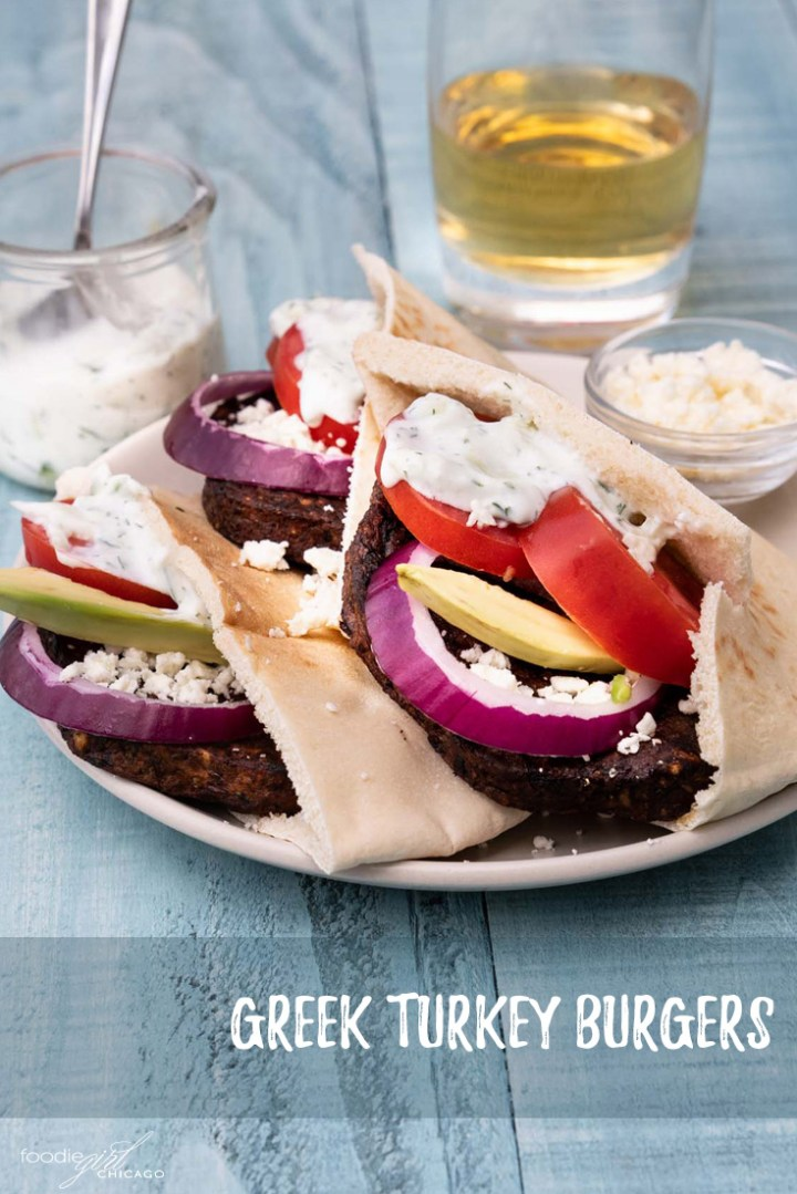 These Greek-inspired veggie burgers are loaded with mouth-watering flavors and give you a plant-based option for all your late summer and early fall cookouts and parties! #Ad #MorningStarFarms #MakeRoomOnYourGrill