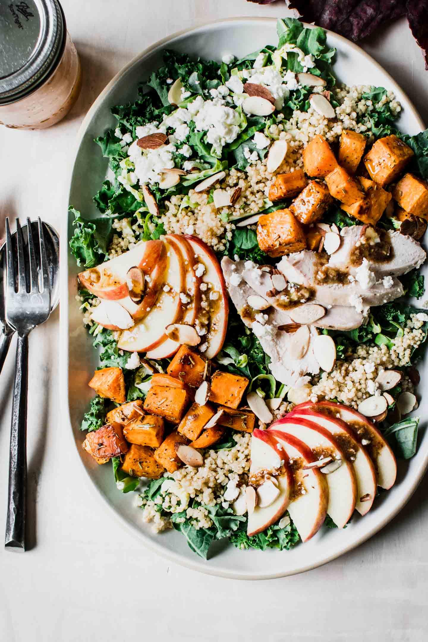 Autumn Kale Salad Urban Foodie Kitchen