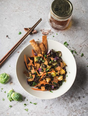 Crispy Asian Brussels Sprouts Salad