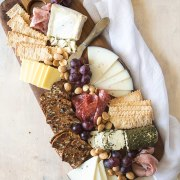 Cheeseboard shot from overhead