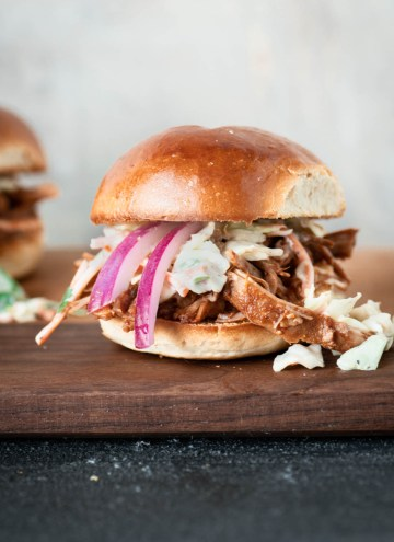 Instant Pot BBQ Pulled Pork Sliders
