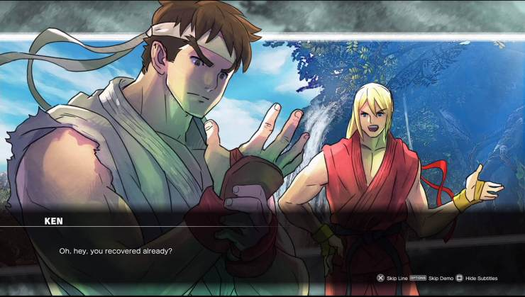 Ryu & Ken Street Fighter V Story Driven Training & Tutorial Gameplay