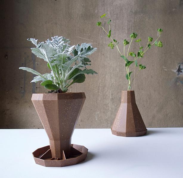 Flower Vase Flips Into Biodegradable Planter - Urban Gardens