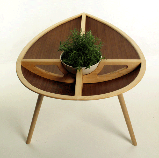 planted table planter with porcelain bowl