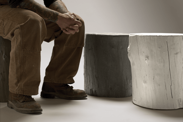 Knotty-Stool-lightweight-Concrete-Tree-Stump-stools-hardgoods