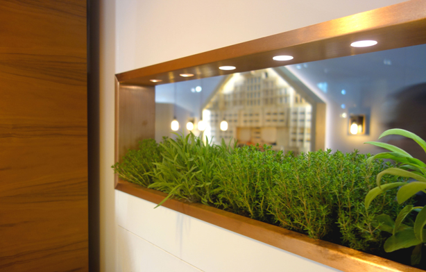 Integrated Indoor Edible And Ornamental Indoor Gardens At