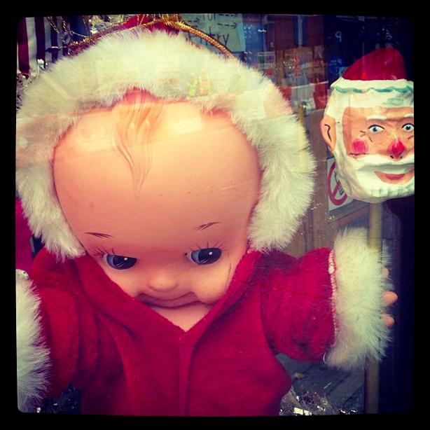 Dolly and Santa Cheering up the Holiday Season