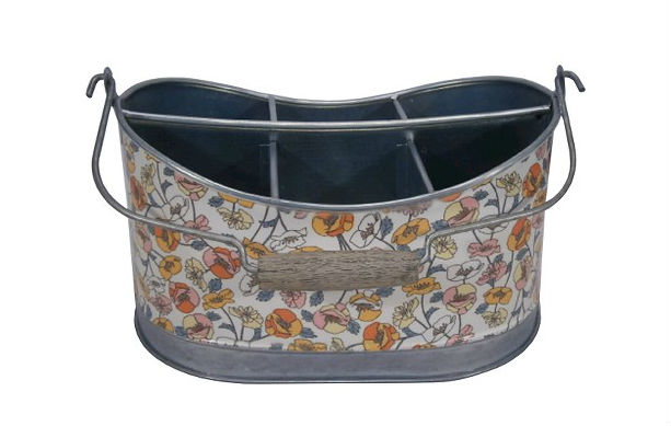 Threshold Galvanized Floral Tool Caddy