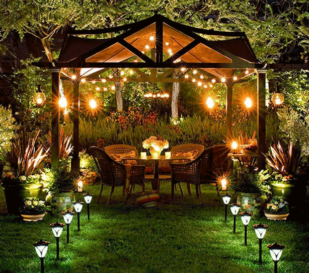 Attirant Line The Path To Your Solar Lit Gazebo With Two Rows Of Solar Landscape  Lights. Via Indulgy.