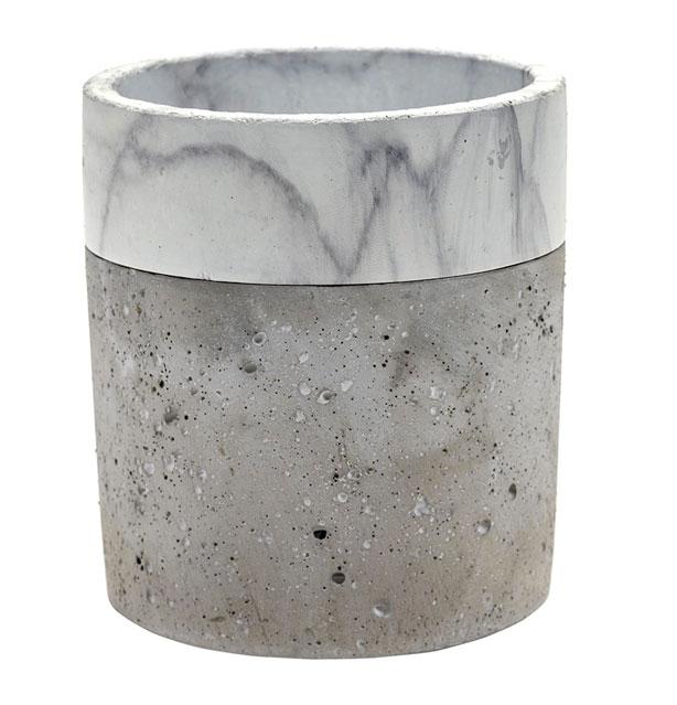 Marble_Concrete_Border_Pot_urbangardensweb_gardening_gifts