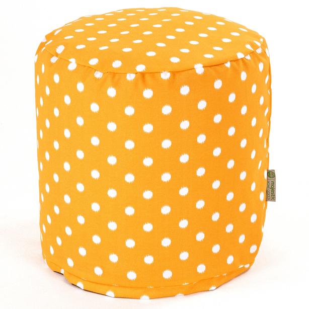 contemporary_yellow-orange_polkadot_outdoor-pouf-ottoman