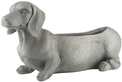 dachshund_concrete_outdoor_planter