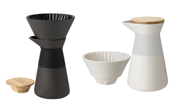 ceramic coffee maker and carafe
