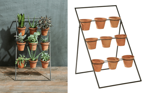 vertical garden plant stand for nine pots