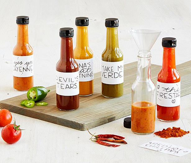 make your own hot sauce gift kit