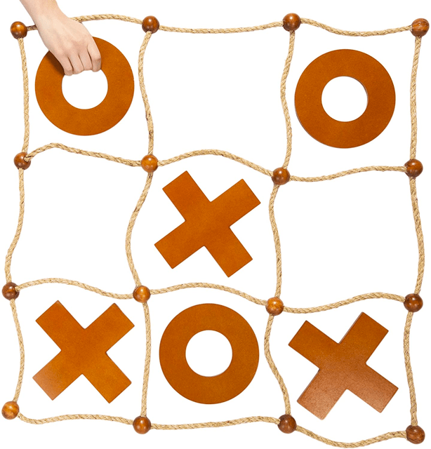Giant tic tac toe outdoor game