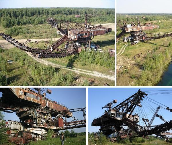 giant bucket wheel excavator 6 Abandoned Mega Machines