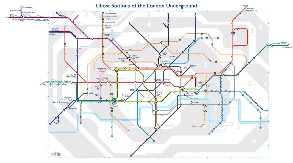 Ghost Stations of the London Underground Mapped Urban Ghosts Media