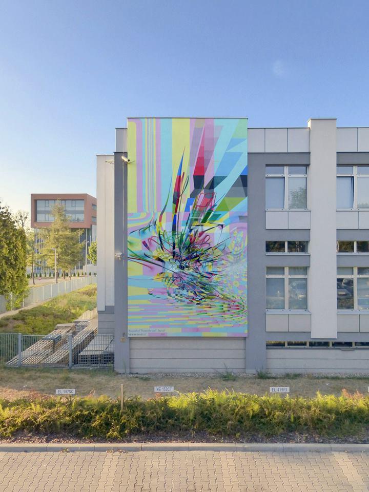 Hexuberances New Mural By Proembrion In Lodz Poland Urbanite