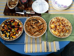 Brunch Tarts - Fruit, Mushroom, Bacon & Eggs
