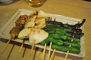 Protein or veggies, anything you've got will make fine Yakitori