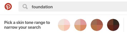 Pinterest Inclusive Search Feature
