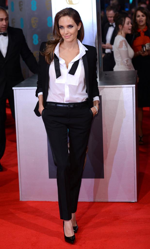 STYLECASTER | Best Celeb Women's Suits | Angelina Jolie