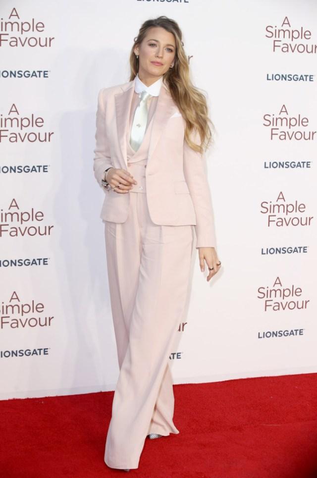 STYLECASTER | Best Celeb Women's Suits | Blake Lively