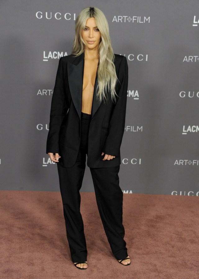 STYLECASTER | Best Celeb Women's Suits | Kim Kardashian