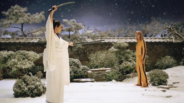Lucy Liu's Blindingly White Kimono in 'Kill Bill: Vol. 1'