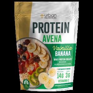 PROTEIN AVENA URBAN NUTRITION proteina whey isolate protein saludable bowl de avena oatmeal Ecuador fitness ejercicio bajo en calorias sin azucar