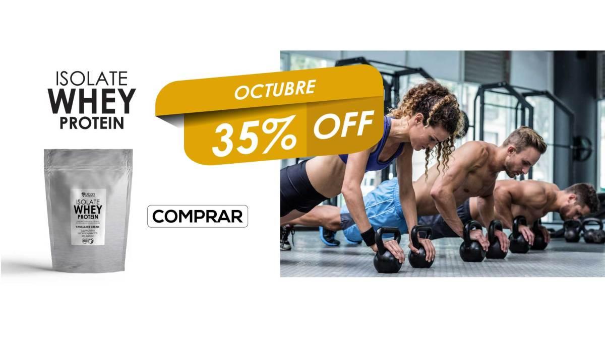 promo octubre proteina whey isolate sacha fitness isolate protein para musculo y definicion