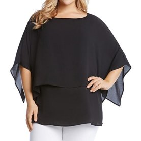 Plus Size Double Layer Top