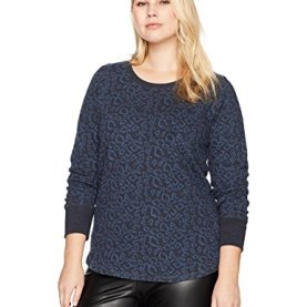 Plus Size Cheetah Pullover Top