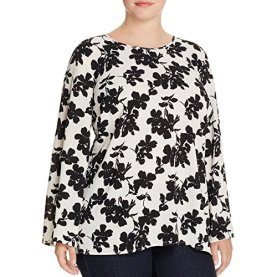 Bell Sleeve Fresco Blooms Blouse