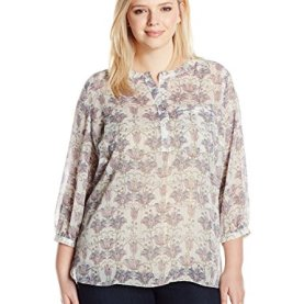 Henley Pleat Back Blouse