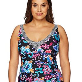 Folkloric Frenzy V-Neck Tankini Top